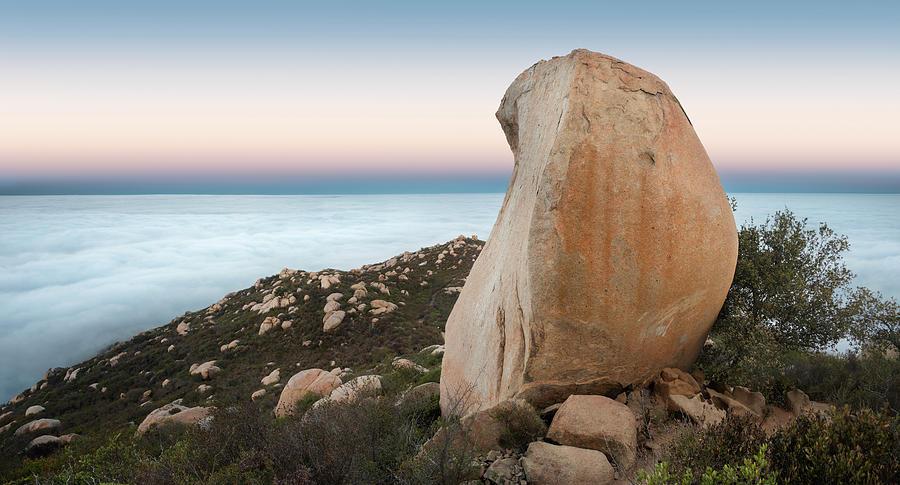 San Diego Photograph - Mount Woodson At Dawn by William Dunigan
