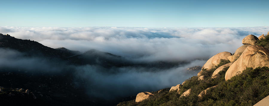 San Diego Photograph - Mount Woodson Clouds by William Dunigan