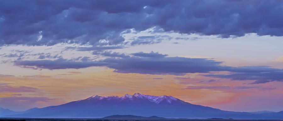 Sangre De Cristo Photograph - Mountain Afterglow by Larry Bodinson