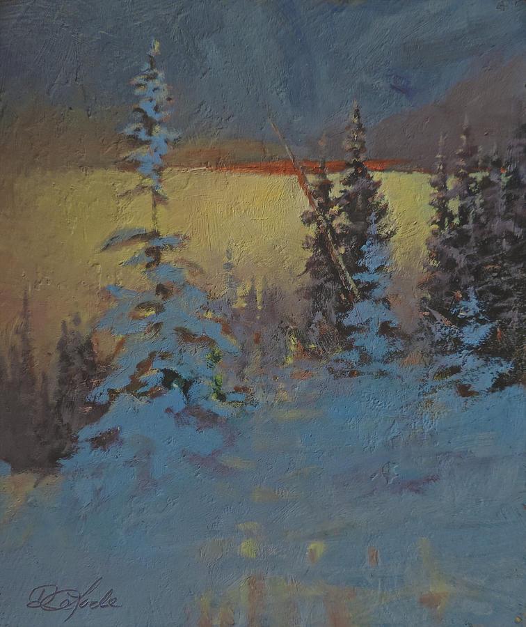 Mountains Painting - Mountain Awakening by Mia DeLode