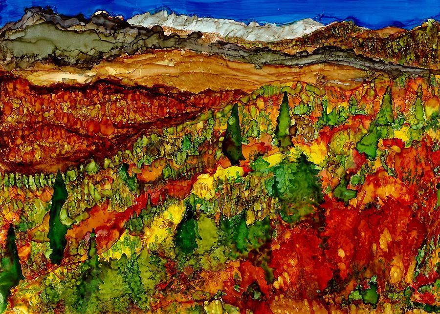 Autumn Painting - Mountain Bikes by Joy Dorr