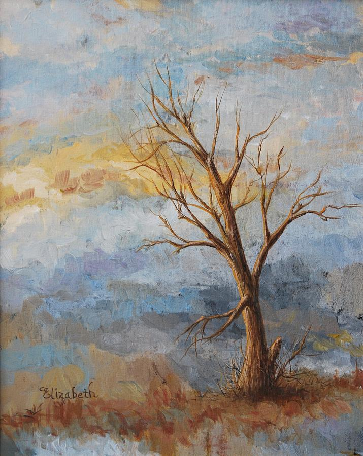 Tree Painting - Mountain Blues by Beth Maddox