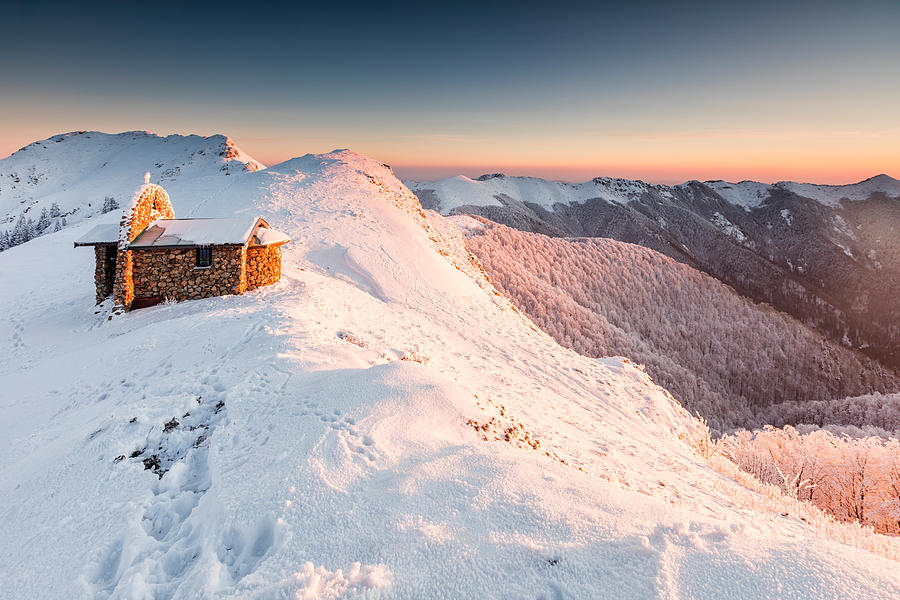 Balkan Mountains Photograph - Mountain Chapel by Evgeni Dinev