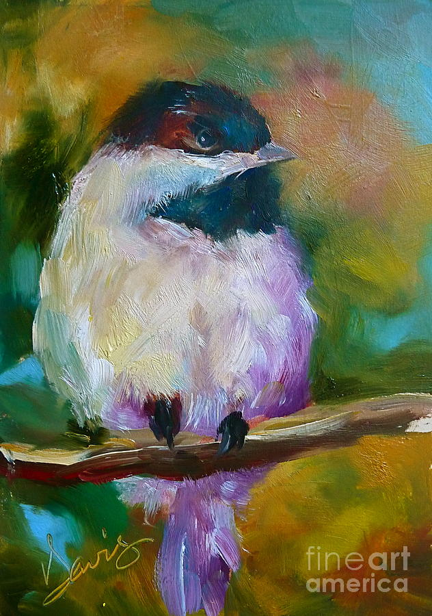 Chickadee Painting - Mountain Chickadee by Xx X