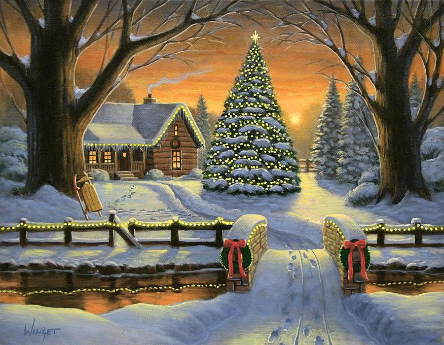 Mountain Christmas.Mountain Christmas