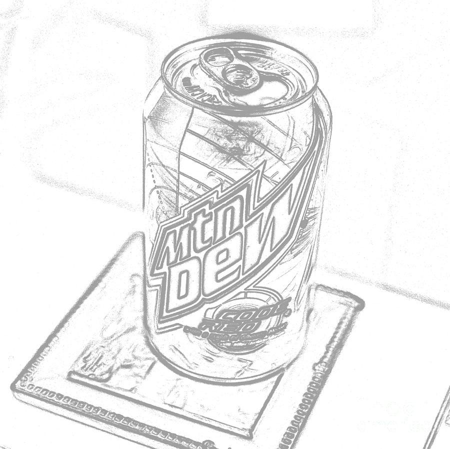 Mountain Dew Sketch Photograph Photograph