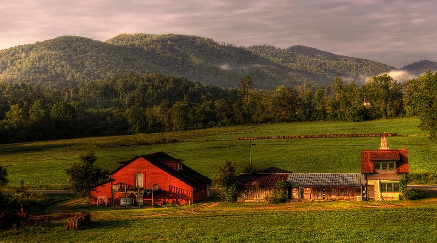 Barns Photograph - Mountain Farm by Greg and Chrystal Mimbs