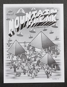 Magazine Digital Art - Mountain Freak Magazine Cover Art by M D