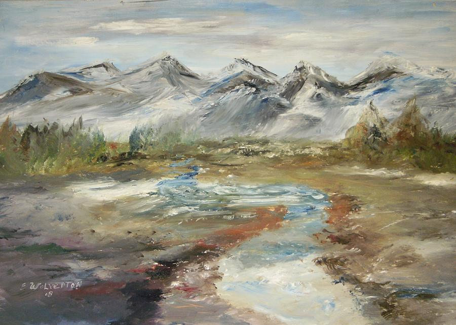Landscape Painting - Mountain Fresh Water by Edward Wolverton