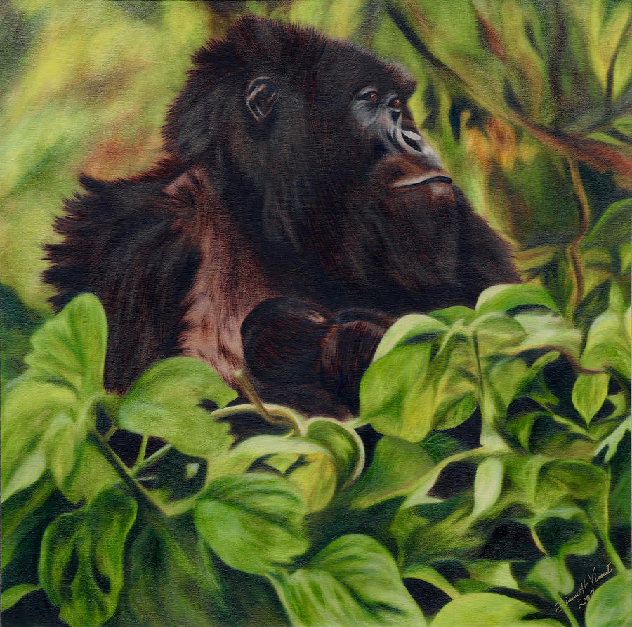 Mountain Gorilla Mama by Dianne Vincent