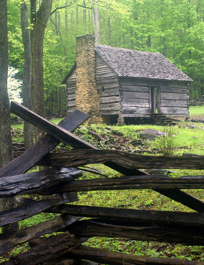 Cabin Photograph - Mountain Homestead by Marty Koch
