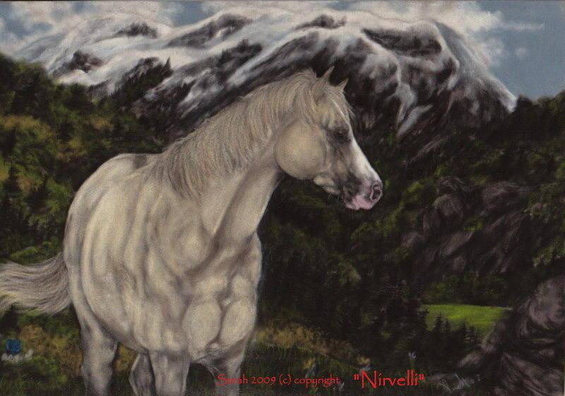 Horse Painting - Mountain Horse by Sarah Whittington