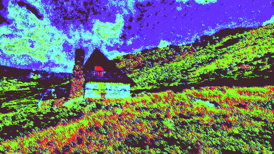 Mountain House D4 Digital Art by Modified Image