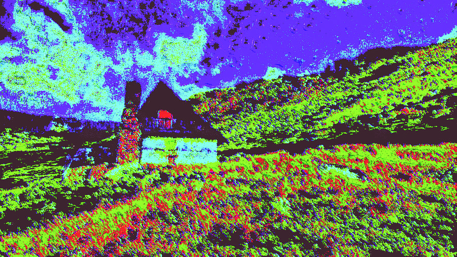 Mountain House Dd4 Digital Art by Modified Image