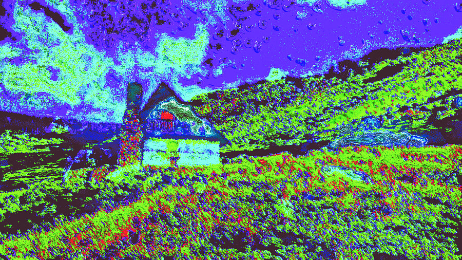 Mountain House Ddd4 Digital Art by Modified Image