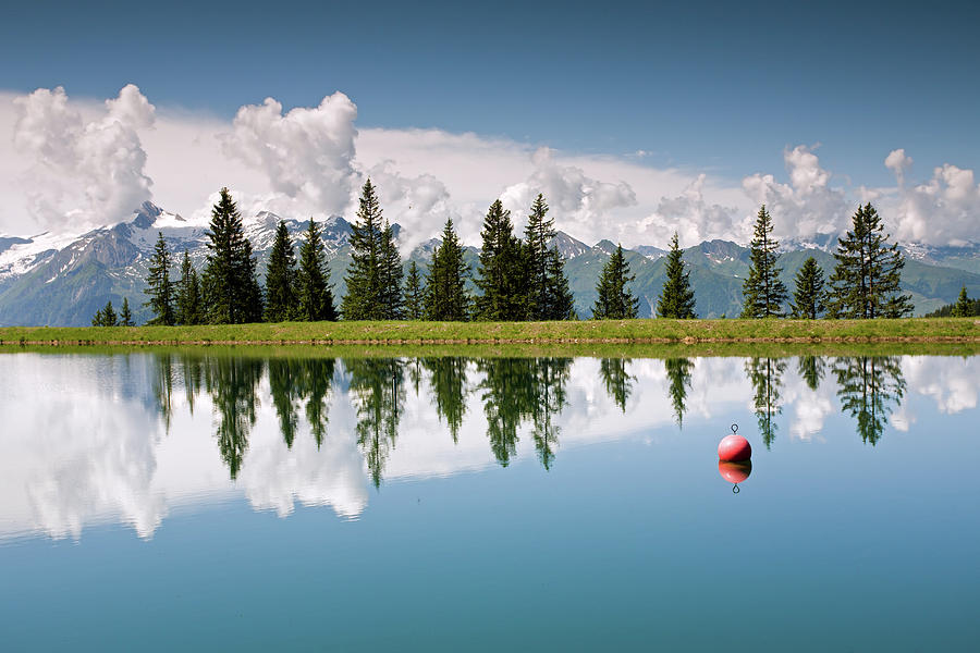 Mountain Lake And Firs With Reflection On Schmittenhohe Zell Am See Trail Photograph