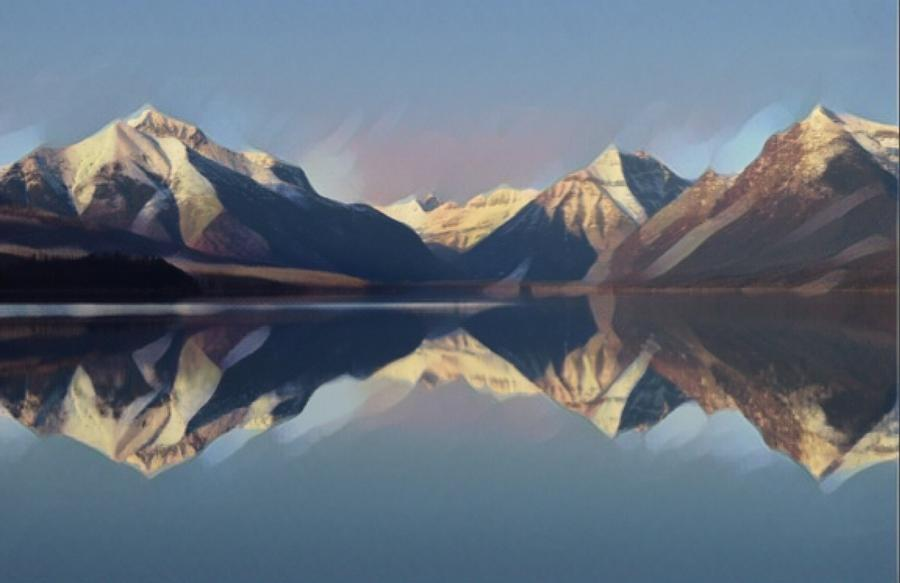 Nature Photograph - Mountain Lake Reflection by Tarisa Smith