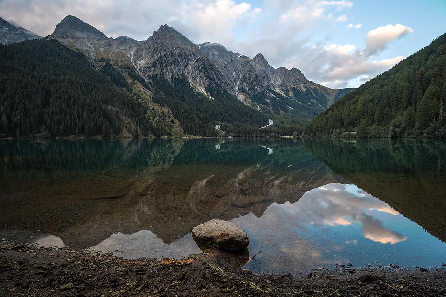 Mountains Photograph - Mountain Lake Reflection by Wim Slootweg