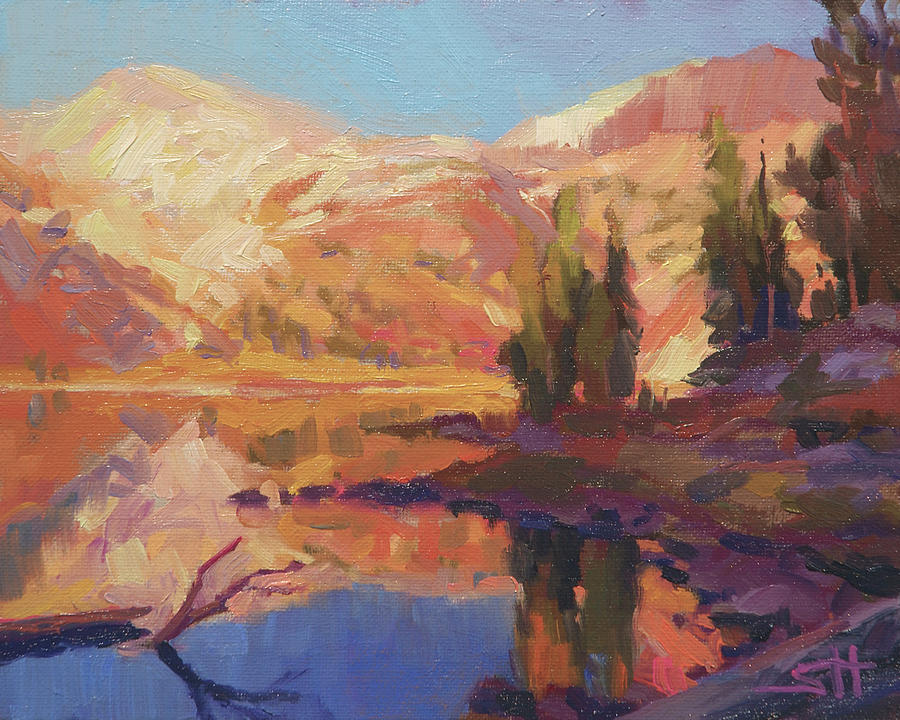 Mountain Painting - Mountain Lake by Steve Henderson