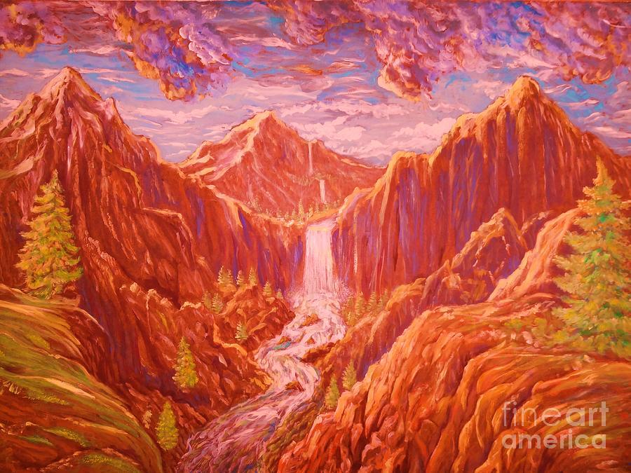Wilderness Painting - Mountain Landscape by Kean Butterfield