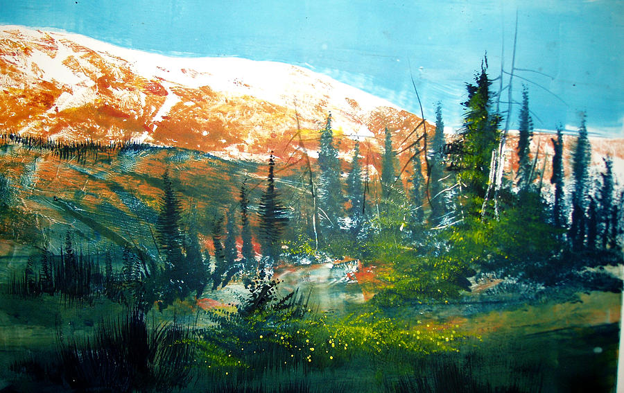 Landscape Mixed Media - Mountain Light by Robert Carver