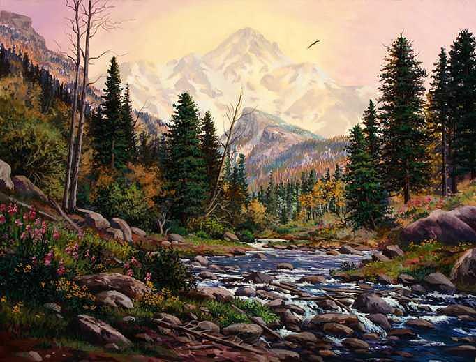 Mountain Magic Painting by W  Scott Fenton
