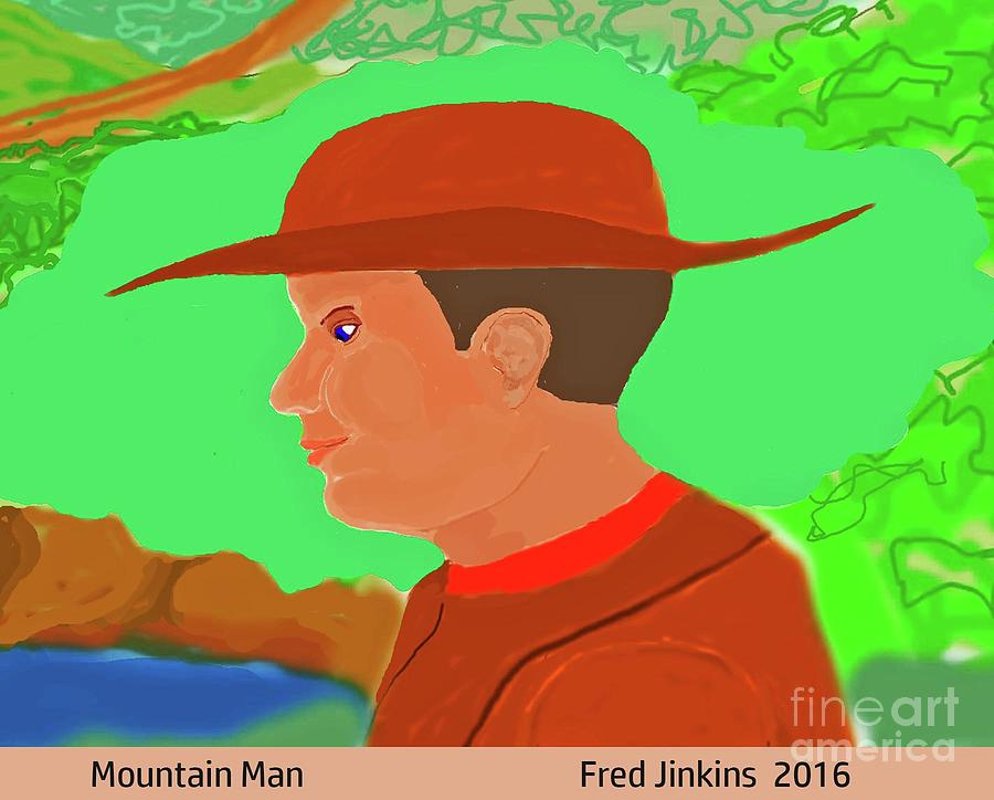 Mountain Man Painting - Mountain Man by Fred Jinkins