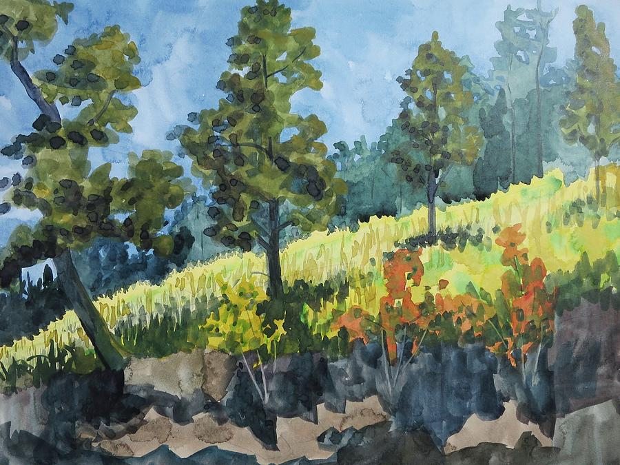 Plein Air Painting - Mountain Meadow by Bethany Lee