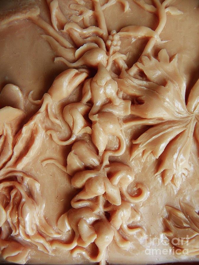 Mountain Meadow original clay relief - Elephanthead detail by Dawn Senior-Trask