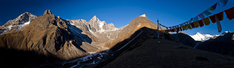 Color Image Photograph - Mountain Peak, Kumuche Himal by Panoramic Images
