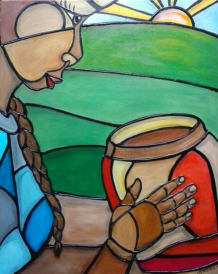 Mountain Potter Painting by Jenny Pickens
