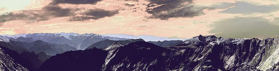 Nature Painting - Mountain Range by Celestial Images