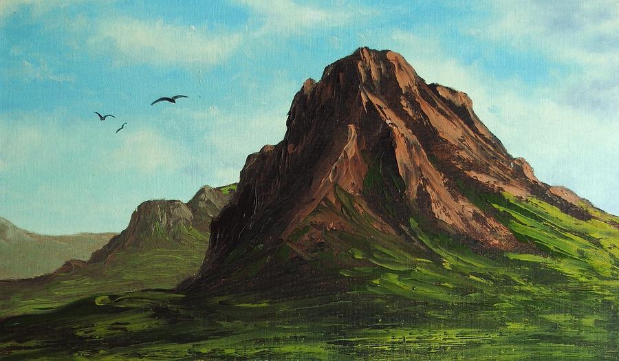 Oil Painting - Mountain Range by Nolan Clark