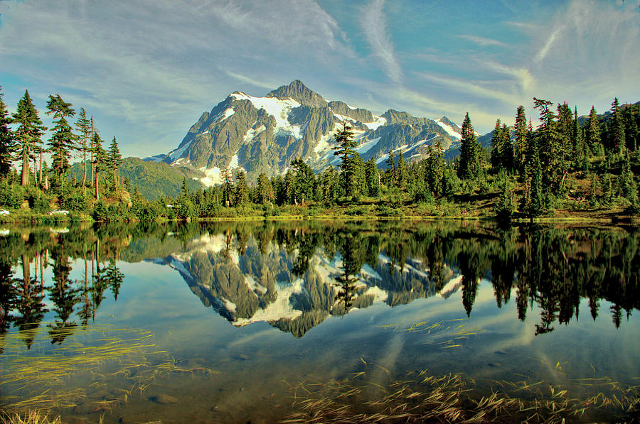 Reflections Photograph - Mountain Reflections by Marv Russell