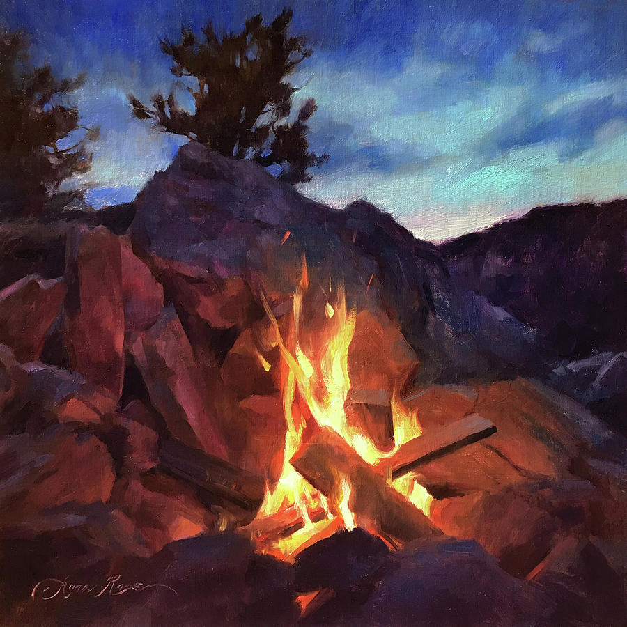 Mountains Painting - Mountain Retreat by Anna Rose Bain