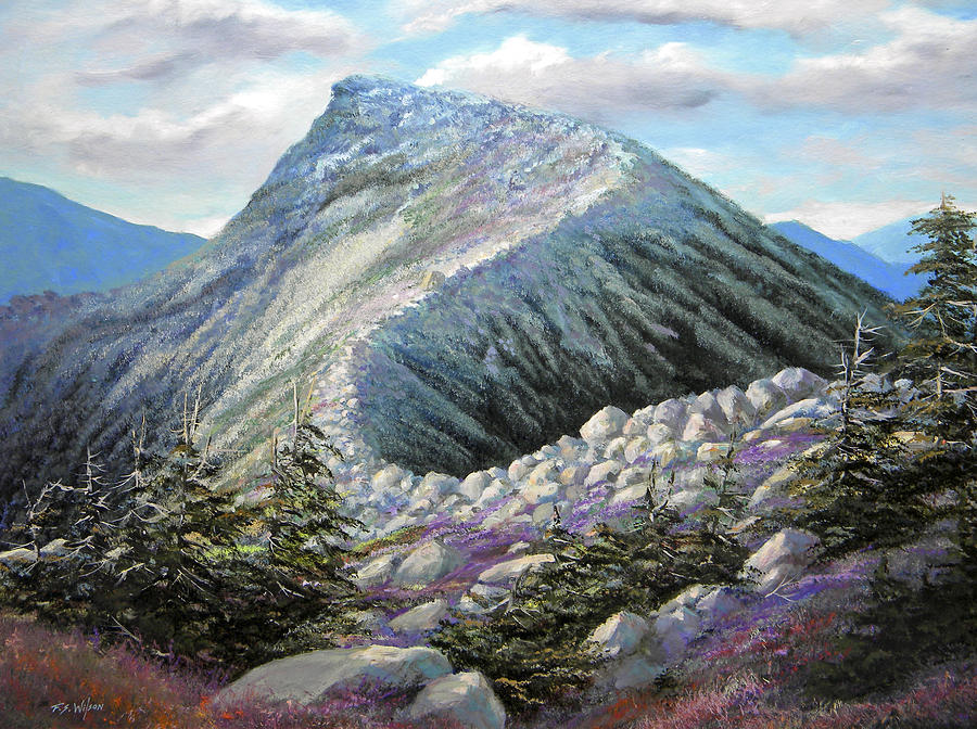 Mountain Ridge Painting By Frank Wilson