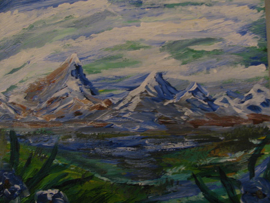 Landscape Painting - Mountain Scene by Dennis Poyant