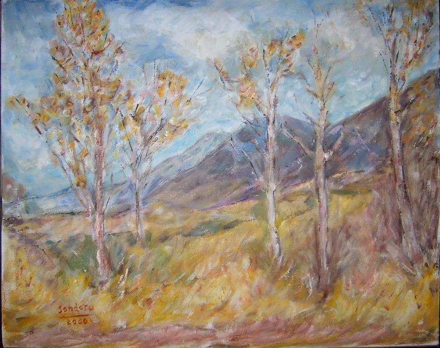 Landscape Painting - Mountain Side K by Joseph Sandora Jr