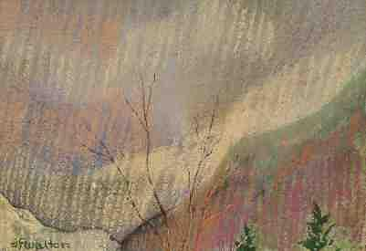 Pastel Landscape Painting - Mountain Snow by Judy Walton