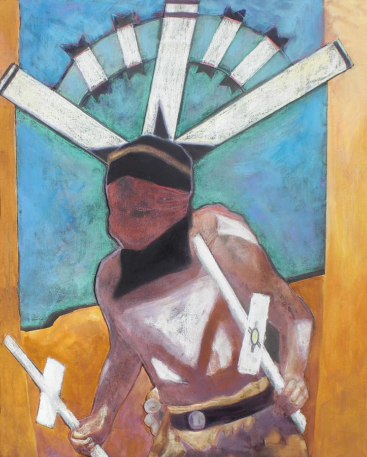 Native American Mixed Media - Mountain Spirit Dancer by Jo Thompson
