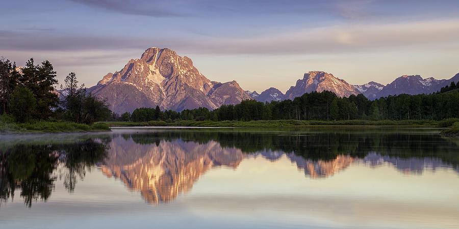 Teton Photograph - Mountain Stillness by Andrew Soundarajan