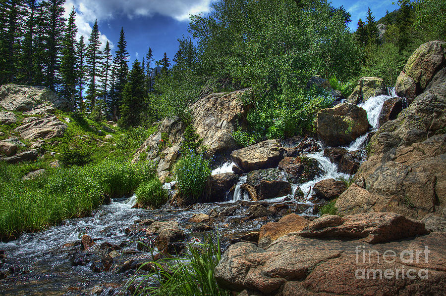 Landscape Photograph - Mountain Stream 3 by Pete Hellmann