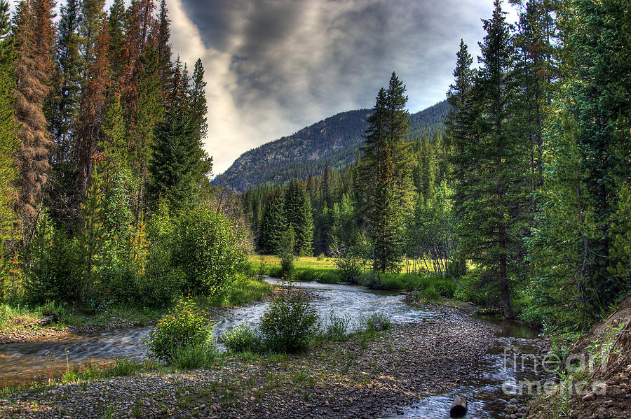 Landscape Photograph - Mountain Stream 4 by Pete Hellmann