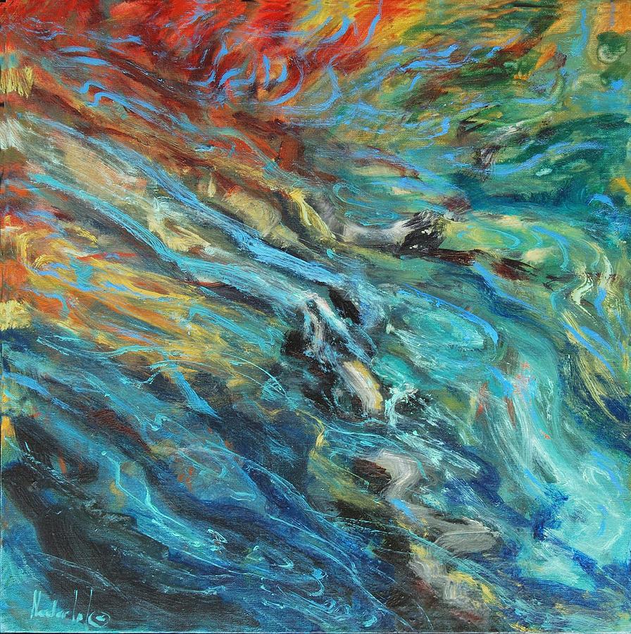 Water Painting - Mountain Stream by Rick Nederlof