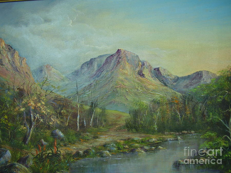 Mountains Painting - Mountain Stream by Rita Palm