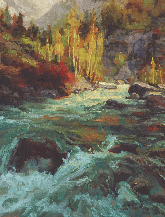River Painting - Mountain Stream by Steve Henderson