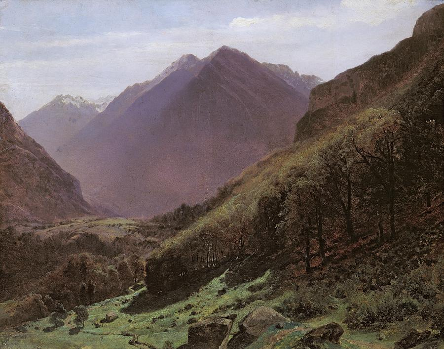 Mountain Painting - Mountain Study by Alexandre Calame