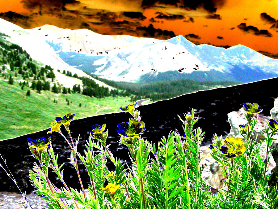 Mountains Digital Art - Mountain Summer by Peter  McIntosh