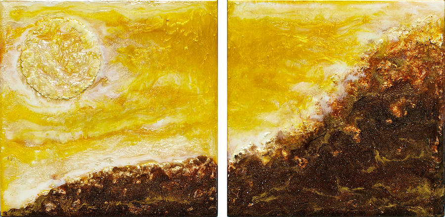 Landscape Painting - Mountain Sun by Paul Tokarski