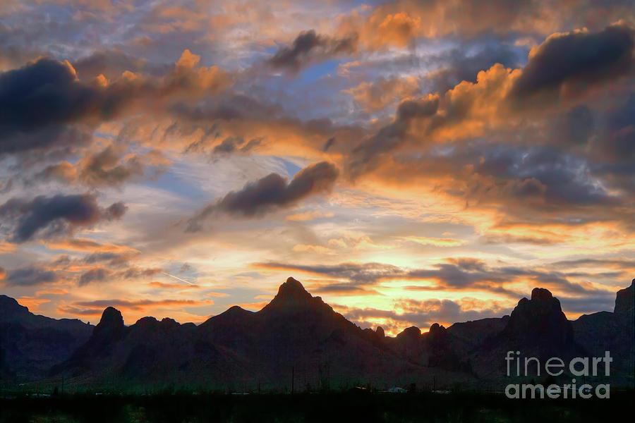 Nature Photograph - Mountain Sunset by Rick Mann